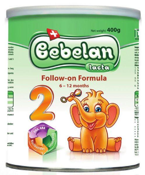 Bebelan Бебешко адаптирано мляко Лакта 2 /6-12 м./ 400 гр.